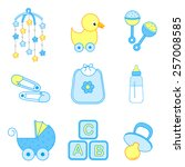 cute baby boy icon  ... | Shutterstock .eps vector #257008585