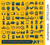 set of game icons | Shutterstock .eps vector #257011144