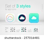 set of 3 graphic styles for app ...