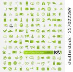 set of sea stickers | Shutterstock .eps vector #257022289