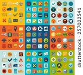 set of navigation icons | Shutterstock .eps vector #257022541