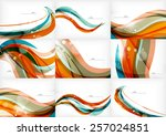 blue orange line concept ... | Shutterstock .eps vector #257024851