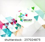 geometric abstract polygonal... | Shutterstock .eps vector #257024875