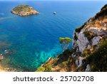 gorgeous mediterranean coast in ... | Shutterstock . vector #25702708