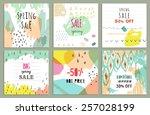 spring sale design. collection... | Shutterstock .eps vector #257028199