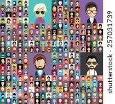 set of people icons in flat... | Shutterstock .eps vector #257031739