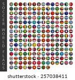 soccer world flags | Shutterstock .eps vector #257038411