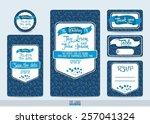 wedding invitation cards set... | Shutterstock .eps vector #257041324