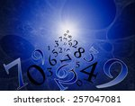 a lot of numbers on a beautiful ... | Shutterstock . vector #257047081