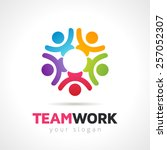 teamwork concept people symbol  ...   Shutterstock .eps vector #257052307
