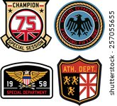Set Of Police Medal Badges And...
