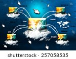 cloud network connection | Shutterstock . vector #257058535