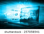 digital internet technology | Shutterstock . vector #257058541