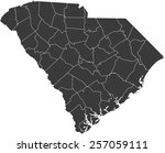 detailed vector map of the... | Shutterstock .eps vector #257059111
