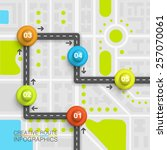 road point information art map  ... | Shutterstock .eps vector #257070061