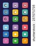 flat icon set. colorful...