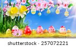 Easter Greeting Card With Peac...