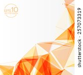 3d orange abstract mesh... | Shutterstock .eps vector #257073319