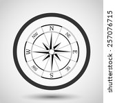 wind rose compass vector icon   ...   Shutterstock .eps vector #257076715