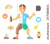people with bad habits and... | Shutterstock .eps vector #257080831