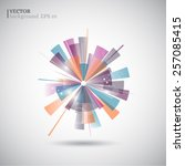colorful abstract    vector... | Shutterstock .eps vector #257085415