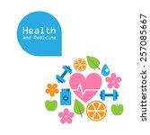 vector health and medicine... | Shutterstock .eps vector #257085667