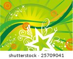 star on the green world. | Shutterstock .eps vector #25709041