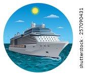 cruise ship | Shutterstock .eps vector #257090431