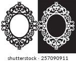 Oval Frame Ornament ...