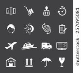 shipping and logistics icons | Shutterstock .eps vector #257095081
