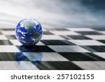 World On A Chessboard Isolated...