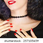 fashion elegance and beauty.... | Shutterstock . vector #257105659