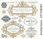 vector vintage collection ... | Shutterstock .eps vector #257108287