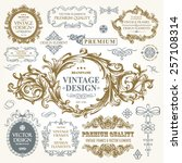 vector vintage collection ... | Shutterstock .eps vector #257108314