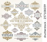 vector vintage collection ... | Shutterstock .eps vector #257108359