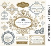 vector vintage collection ... | Shutterstock .eps vector #257108377