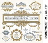 vector vintage collection ... | Shutterstock .eps vector #257108449