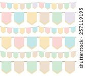 set of pastel tasselled... | Shutterstock .eps vector #257119195