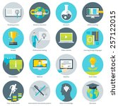 set of flat design vector... | Shutterstock .eps vector #257122015