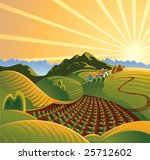 Solar Rural Landscape With A...