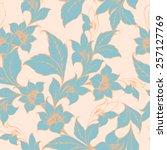 vector floral texture pattern... | Shutterstock .eps vector #257127769