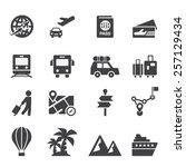 travel icon  | Shutterstock .eps vector #257129434