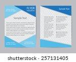 abstract brochure design.flyer... | Shutterstock .eps vector #257131405