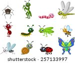 collection of insects cartoon | Shutterstock .eps vector #257133997