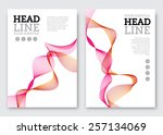 vector poster design template.... | Shutterstock .eps vector #257134069