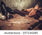 shoe care and gentleman's... | Shutterstock . vector #257134285