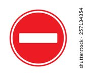 stop sign . no entry  sign | Shutterstock .eps vector #257134354