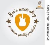 vintage logo  badge  emblem or... | Shutterstock .eps vector #257134399