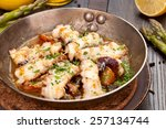 octopus fried in a pan | Shutterstock . vector #257134744