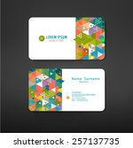 business cards design template... | Shutterstock .eps vector #257137735